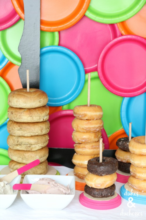 DIY donut stands and bagel stands