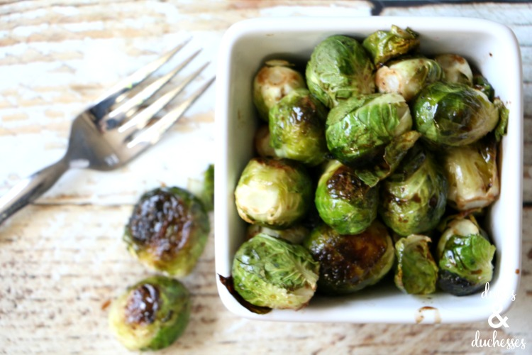 balsamic maple glazed brussels sprouts