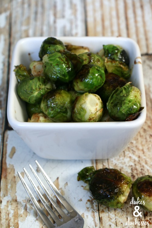 brussels sprouts recipe with maple balsamic glaze