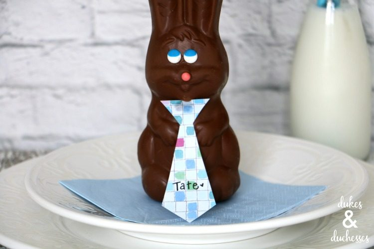 Chocolate Bunny Place Card