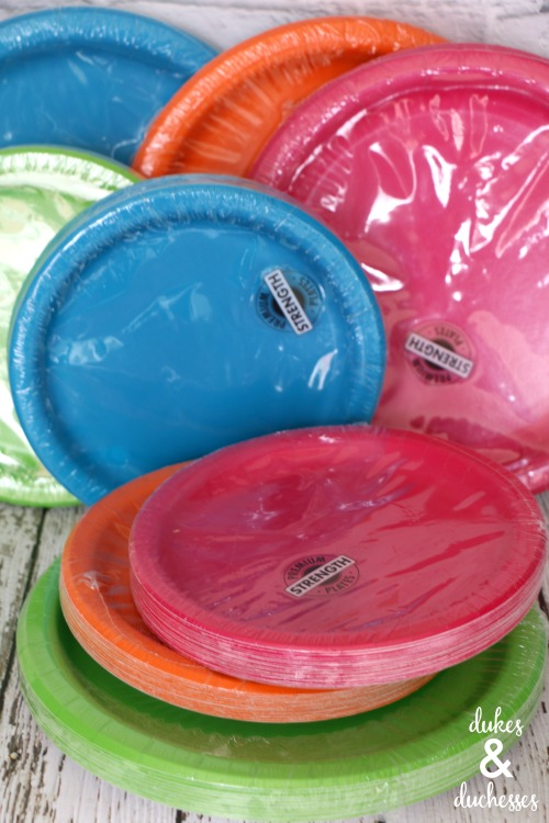 colored paper plates from oriental trading