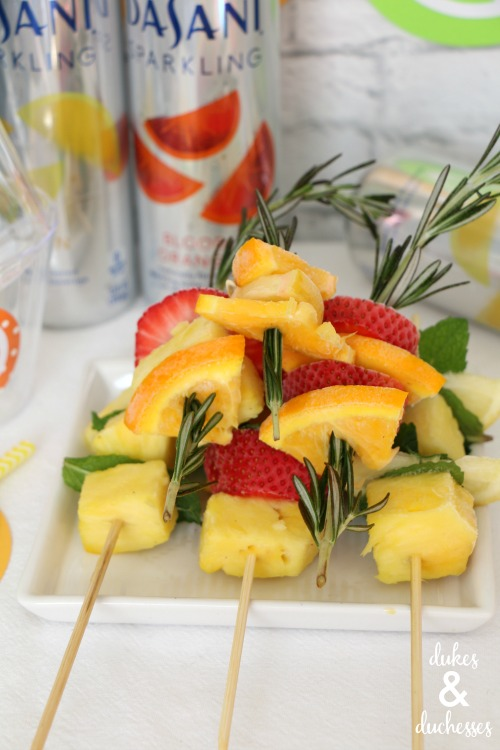 frozen fruit herb drink stirrers