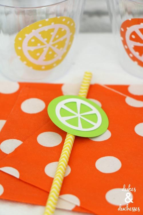 fruit slice straw topper