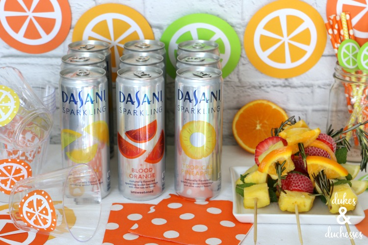 fruity beverage bar for summer parties