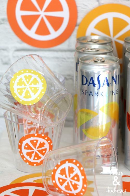 fruity drink bar for summer entertaining