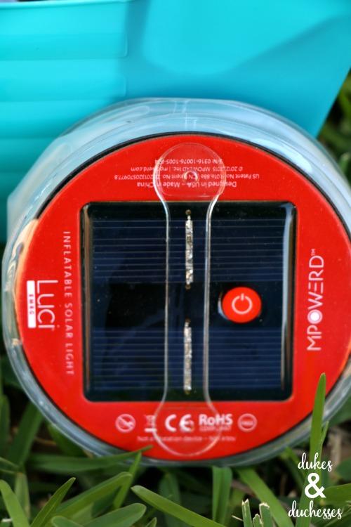 luci light solar panel