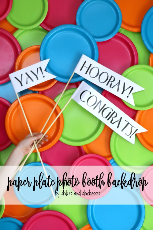 paper plate photo booth backdrop