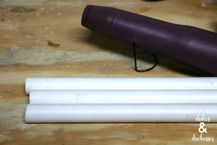 pvc pipe and embossing tool