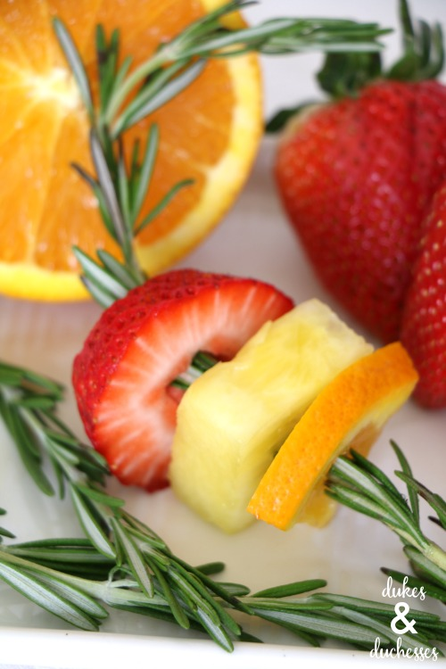 rosemary fruit skewers