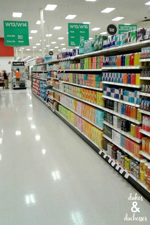 target sparkling water aisle