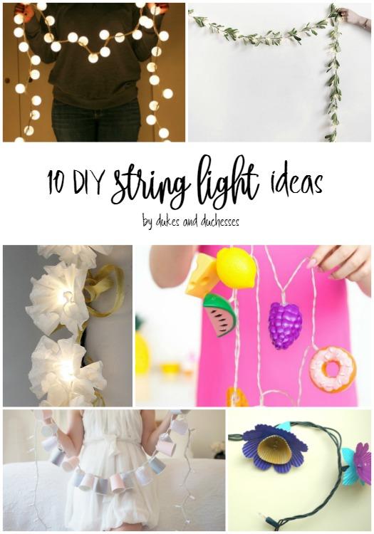 10 DIY string light ideas
