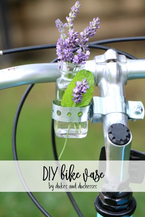 DIY bike vase