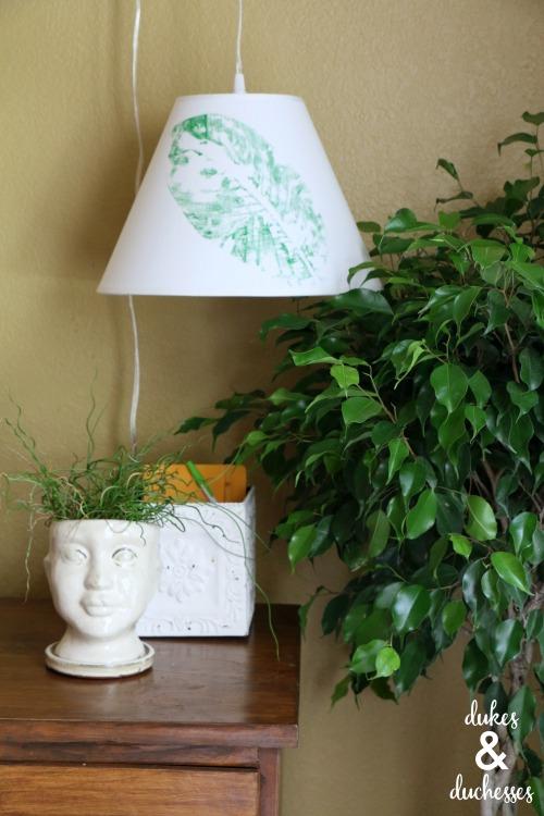 DIY botanical style lampshade