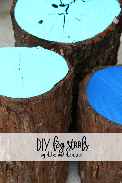 DIY log stools