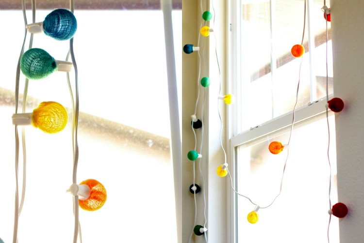 colorful DIY string lights