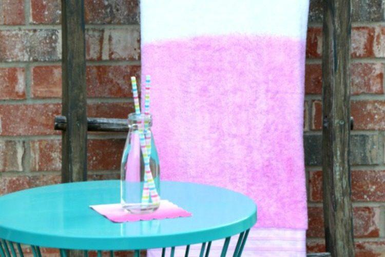 Dip Dyed Towels