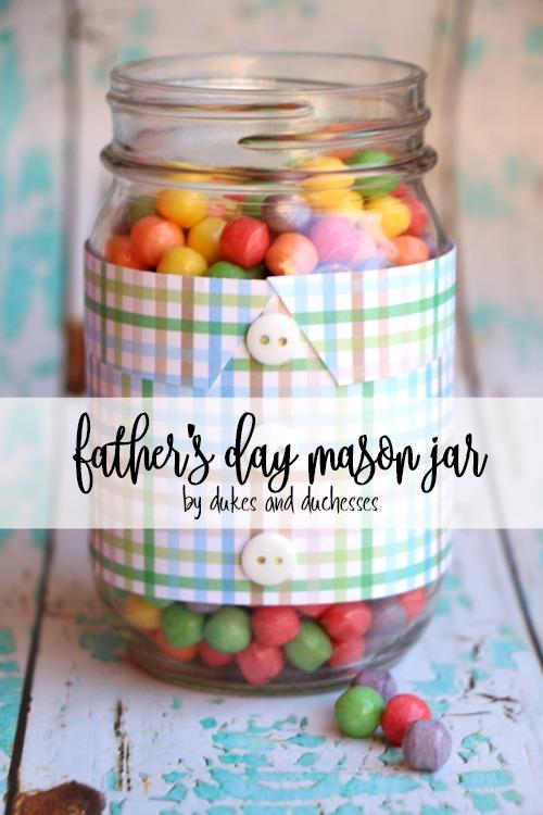 father's day mason jar
