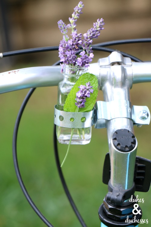 flower vase for a bike