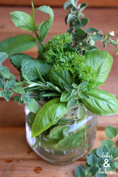 fresh herb bouquet gift idea