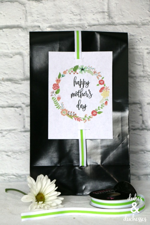 happy mothers day gift tag