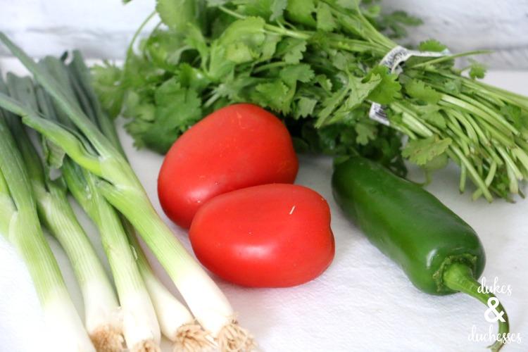ingredients for easy blender salsa