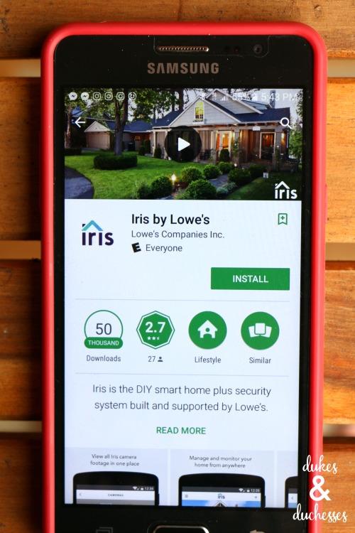 iris by lowe's app