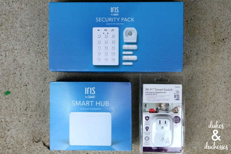 iris by lowe's security and smart home system