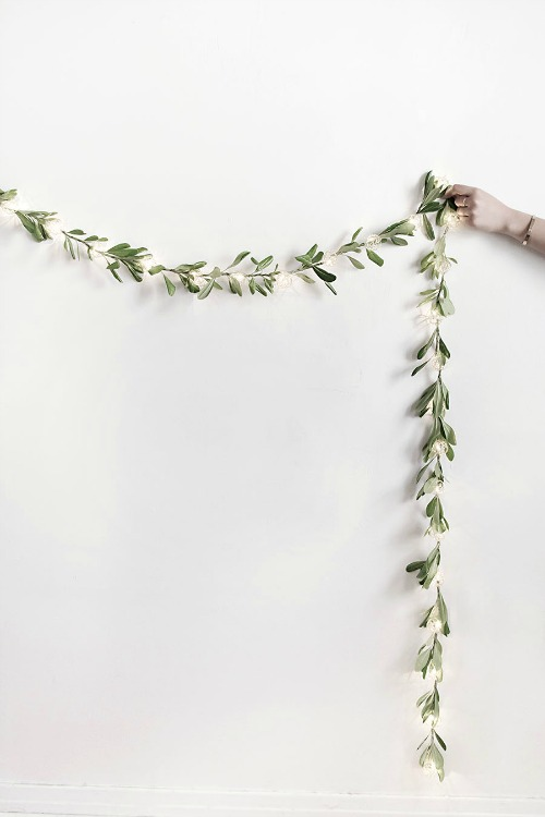 DIY leafy string lights