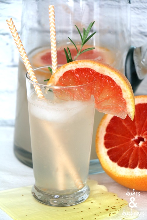 lime rosemary grapefruit spritzer
