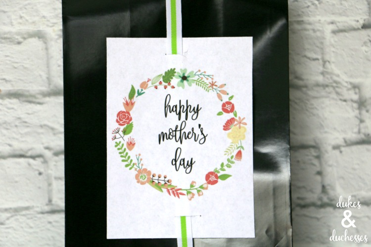 mother's day printable tag