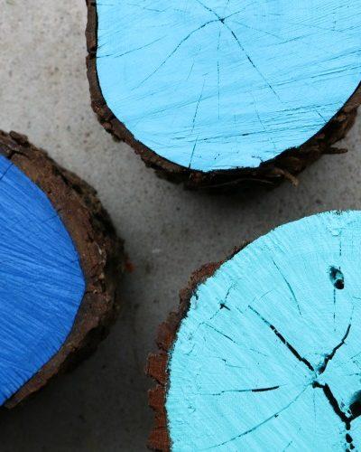 DIY Log Stools