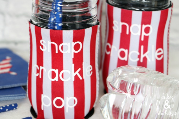 snap crackle pop drink holders for fourth of july