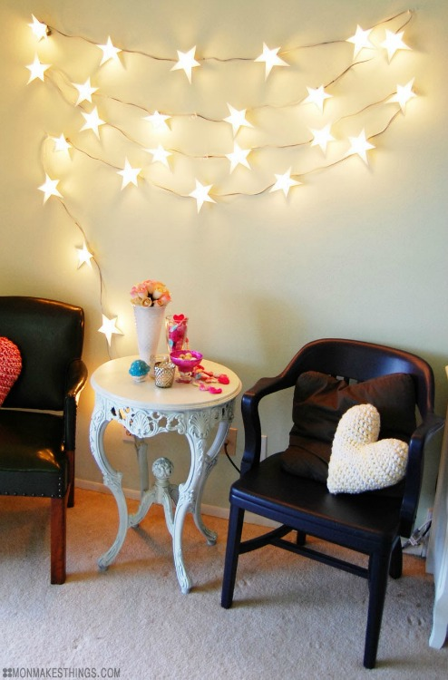 DIY star string lights