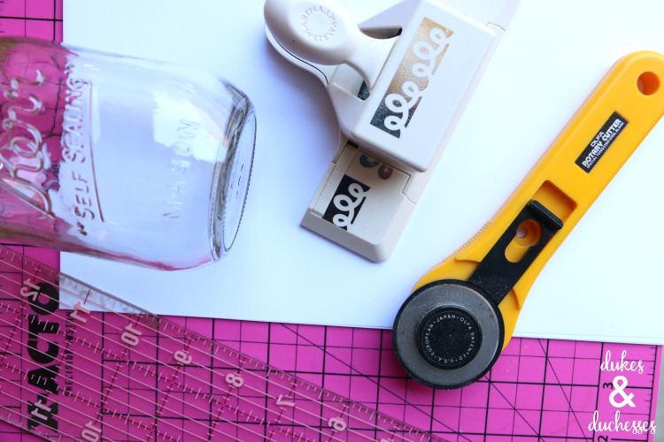 supplies to make paper punched vase