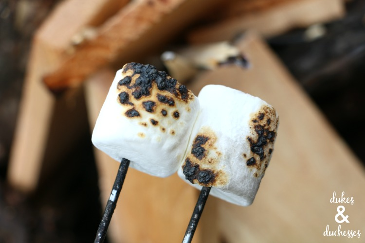 toasted marshmallows for s'mores