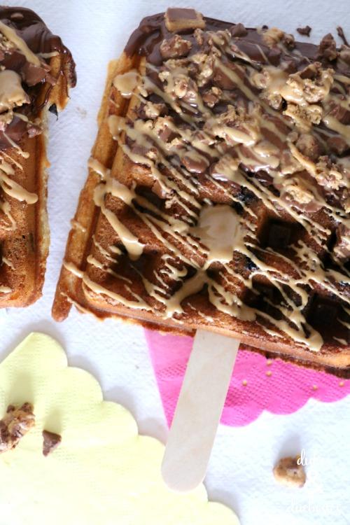 waffle pops on a stick