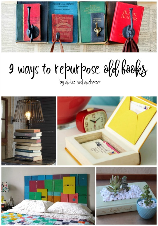 9 ways to repurpose old books