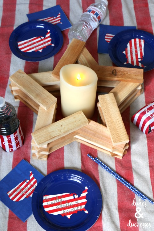 DIY wood star candleholder