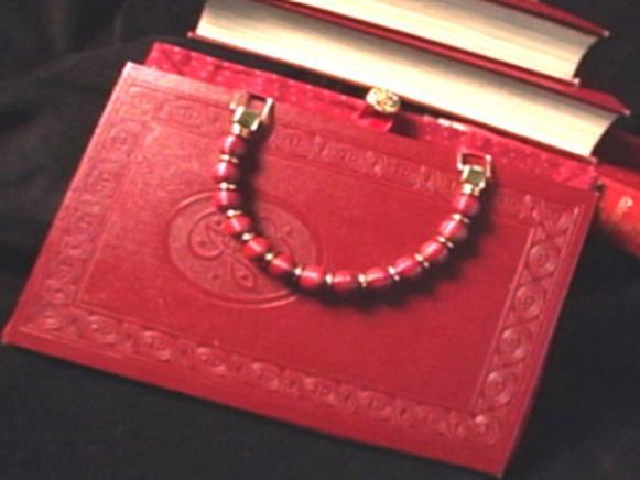 hardcover book purse