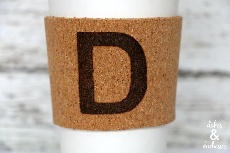 branded cork coffee sleeve
