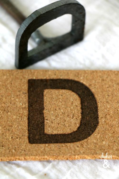 branded monogrammed cork