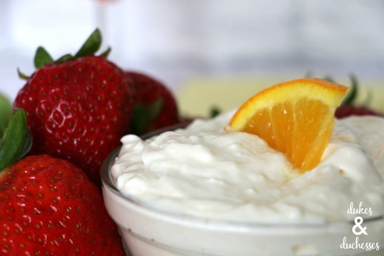 cream cheese sangria fruit dip