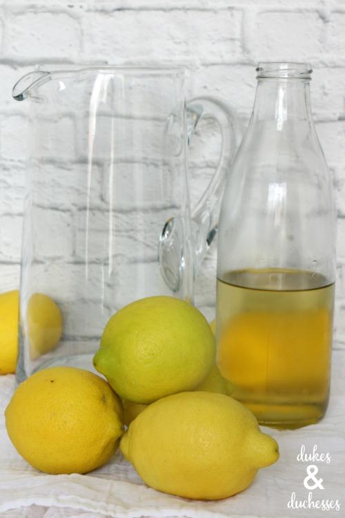 ingredients for lavender mint lemonade