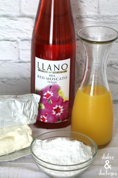 ingredients for sangria dip