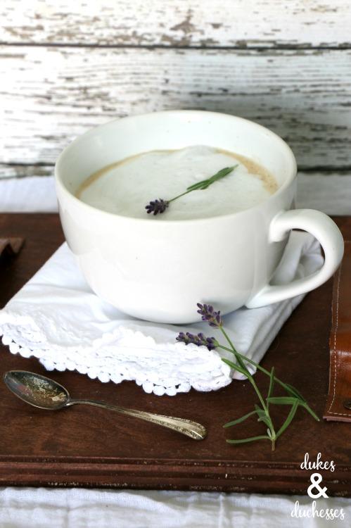 lavender infused latte drink recipe