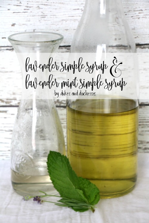 ender simple syrup and lavender mint simple syrup