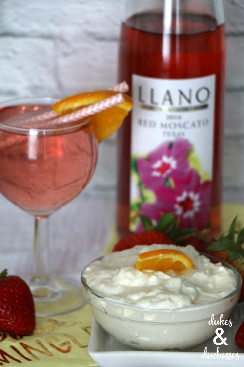 sangria fruit dip recipe with llano wine