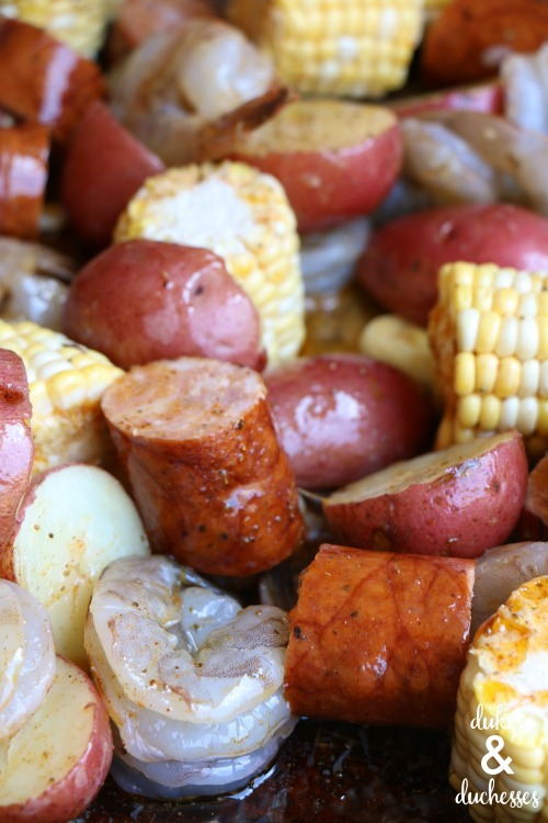 sheet pan shrimp boil recipe
