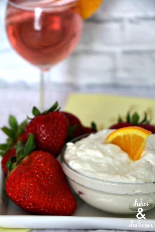 simple sangria fruit dip