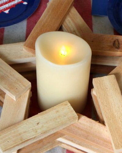 Rustic Wood Star Candleholder